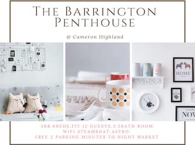 3BR The Barrington Penthouse@Cameron★ Night Market