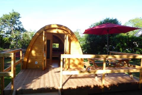 Cabane chauffée sur terrain privé (hors camping)
