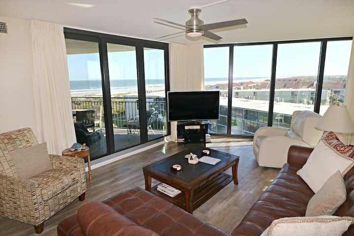 Gorgeous Ocean Views from Several Balconies on the 7th Floor, highest point on Anastasia Island from Anastasia Condos 701