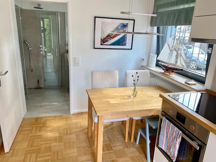 Modernes Studio in Toplage + Garten in Bad Homburg