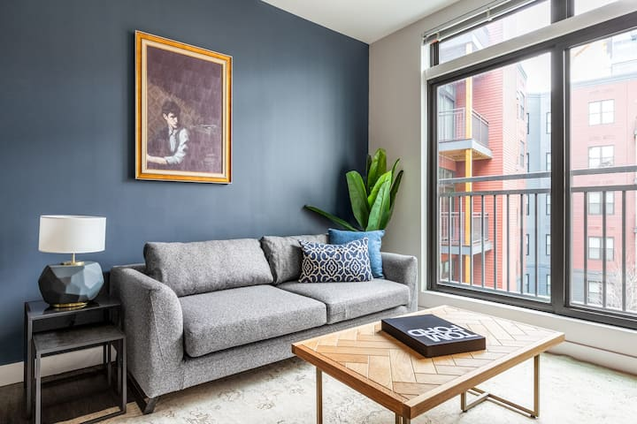 Roomy Somerville 1BR w/ Gym, Doorman, nr. Assembly Row, by Blueground