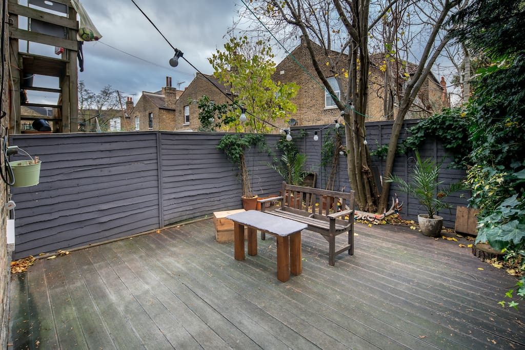 A private garden is a real luxury in London!
