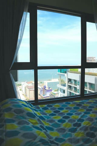 Nice Sea View on 29th Fl. Free Wifi - Pattaya