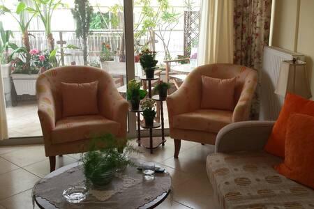 Cosy & sunny apartment 15min from city center - Athina - Flat
