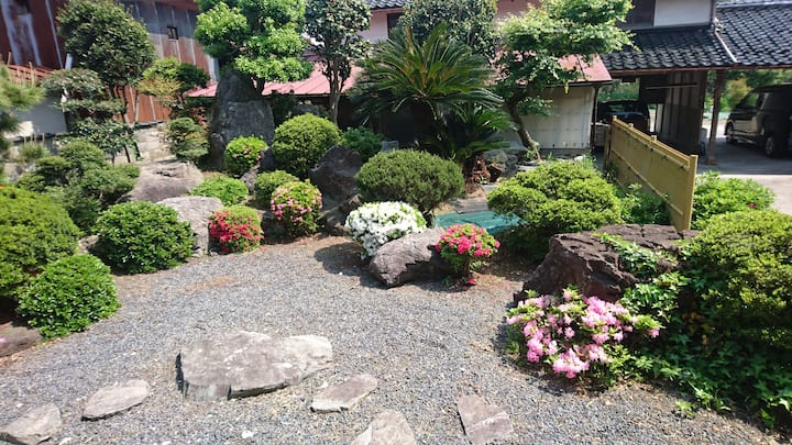 Homestay Japanese garden,  pick up service ,meal