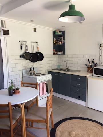 Studio apartment with beautiful backyard