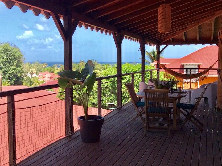 Authentique Villa Créole en Duplex- vue Grand'Anse