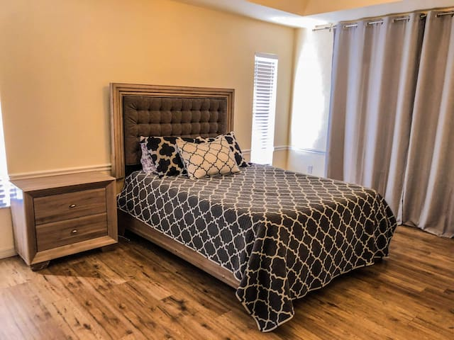 Queen Master Suite with private bathroom.