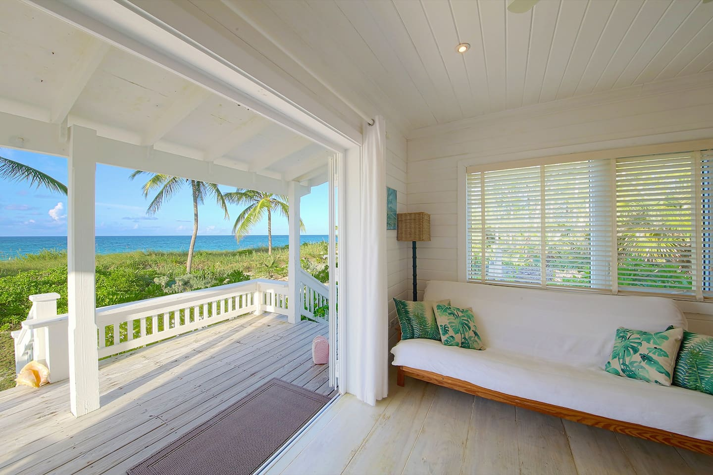 Expansive ocean views from the beachfront cottage