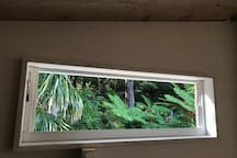 View from loft bedroom