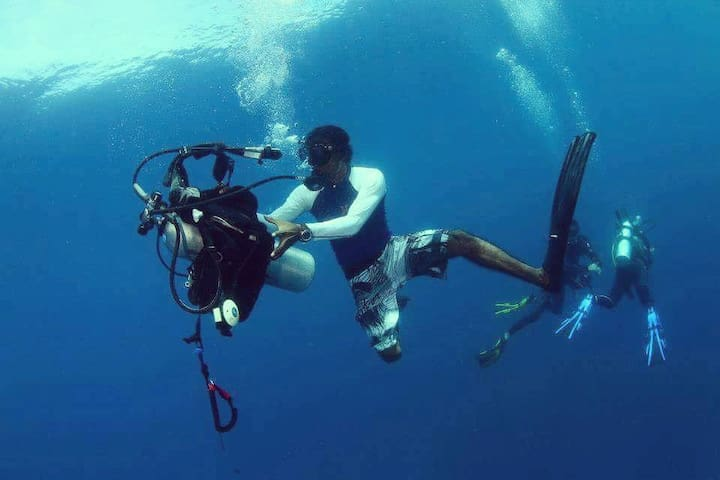 Kamadhoo Dive & Watersports. 潜水和水上运动