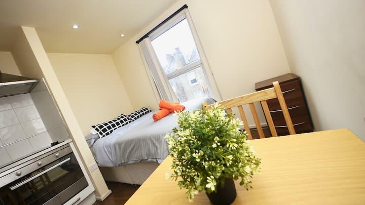 lovely Cosy double  studio flat in Queens park x