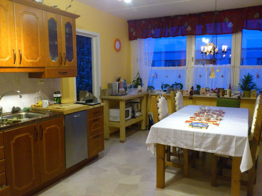 Comfortable and spacy kitchen
