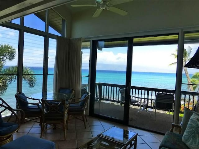 Ocean Front - Mahina Surf 228 (Two Bedroom Two Bath Oceanfront) - Napili-Honokowai - Apartment