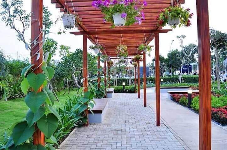garden park. beside swimming pool