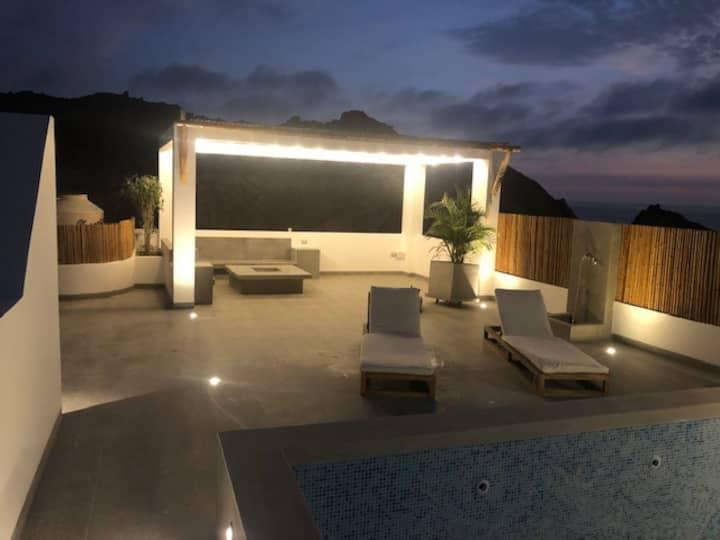 Casa de Playa de estreno con Piscina / PetFriendly