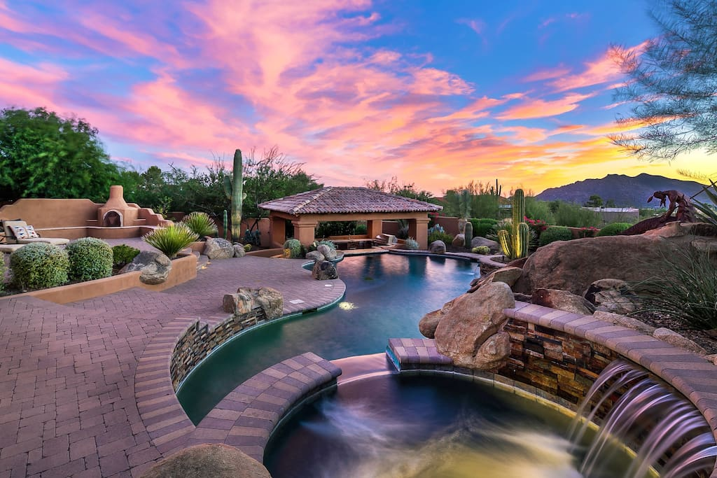 You must witness Arizona's famous sunsets! Unobstructed views from the resort inspired backyard!