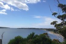 George's Bay looking towards Akaroa