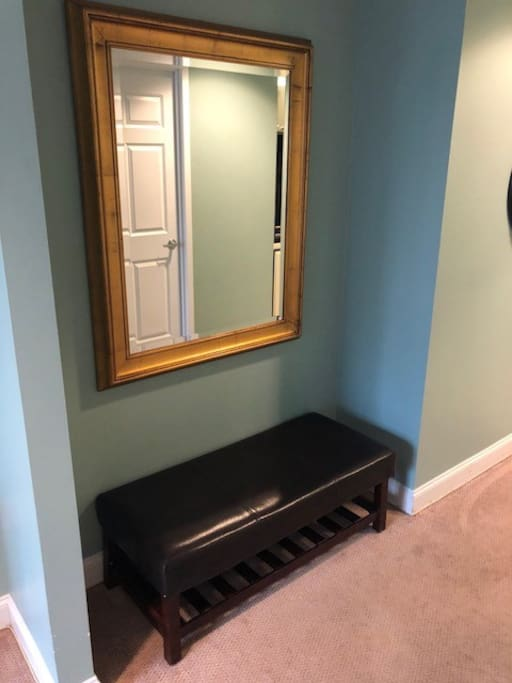 Dressing Area with Bench and Mirror