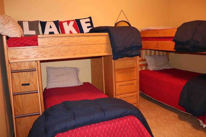 Bedroom 5: downstairs bunk room