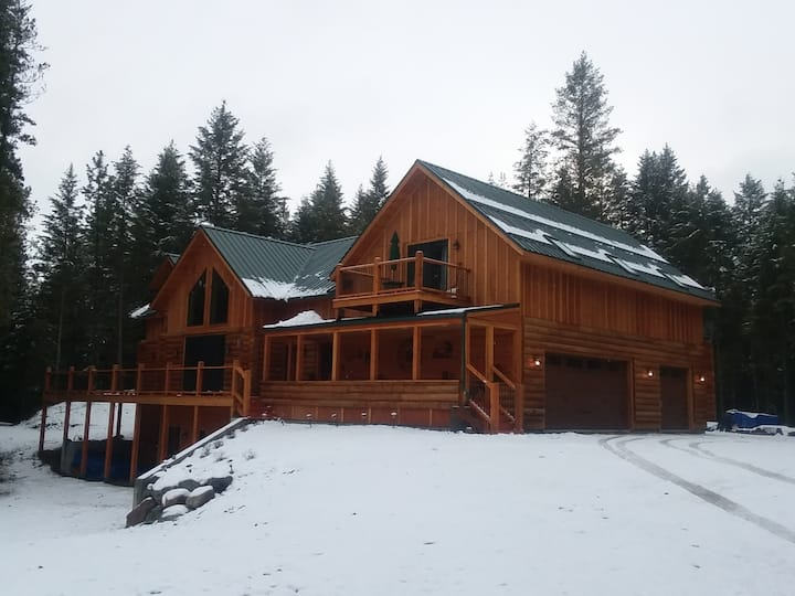 The Moore Family Log Cabin in the Woods!
