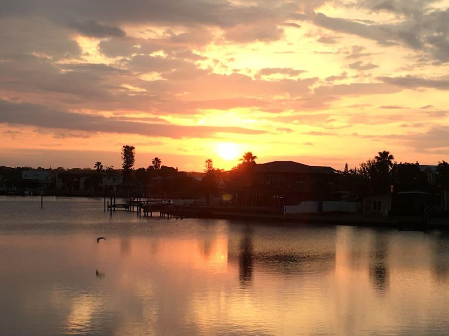 sunrise from dock