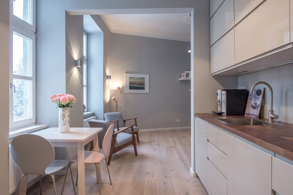 Kitchen with dining place