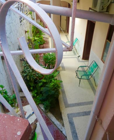 ...lead to the stairwell onto our roof terrace.