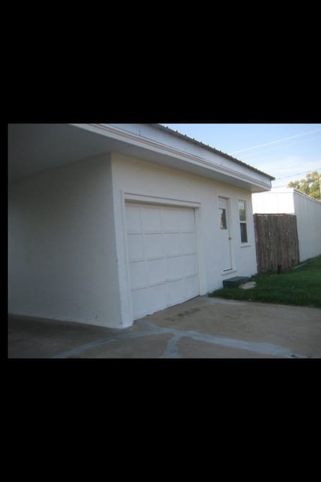 The entrance to the unit that is available, garage is not included in the rental.