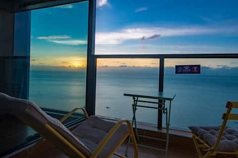 ·09【阅海居 希望你也在这里】【开始美丽的际遇21楼投影大床房】想和你一起看海、也想和海一起看你!