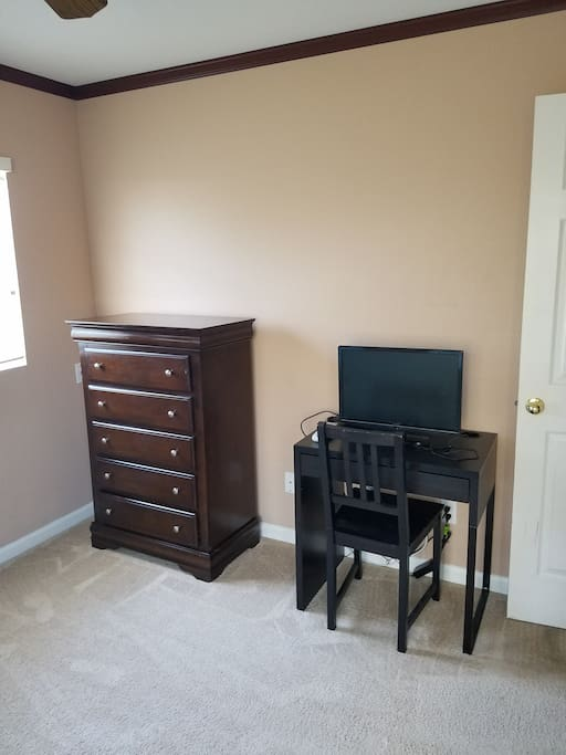 Small TV with direct TV network,  work space, free wifi