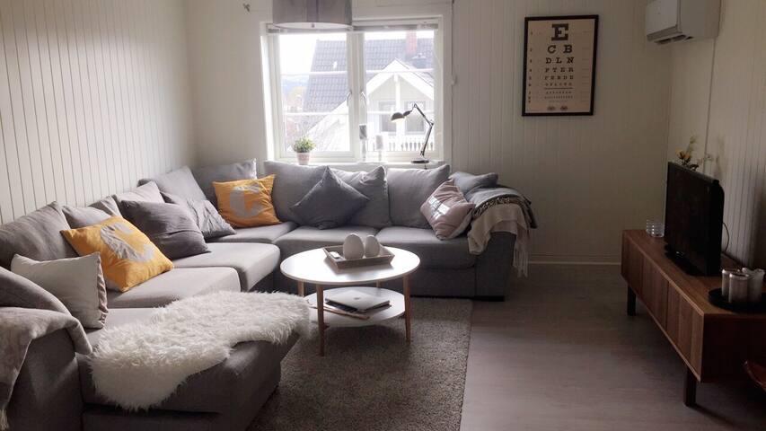 Sentral & spacious flat w/balcony - Skien - Byt