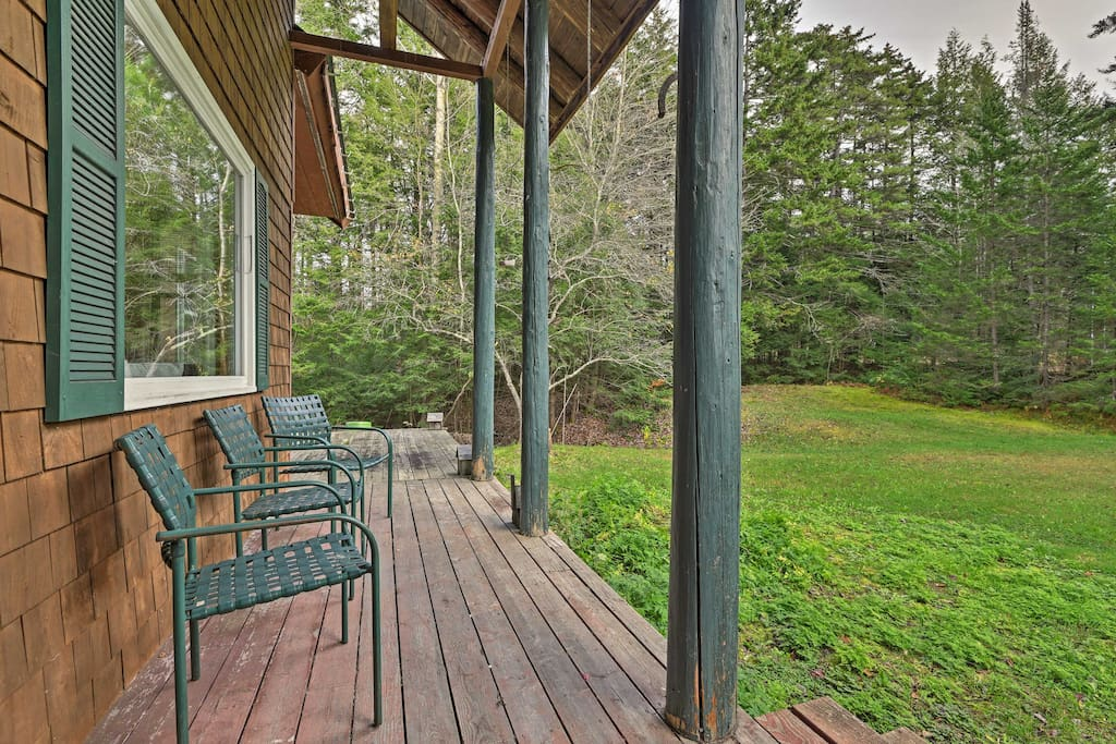 Enjoy the serene countryside from the comfort of the front porch.