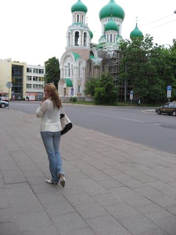 Russian church 2min walk from the apartment