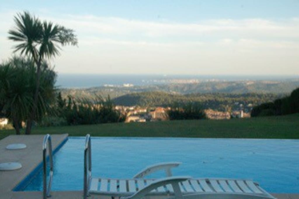 The swimming pool and view