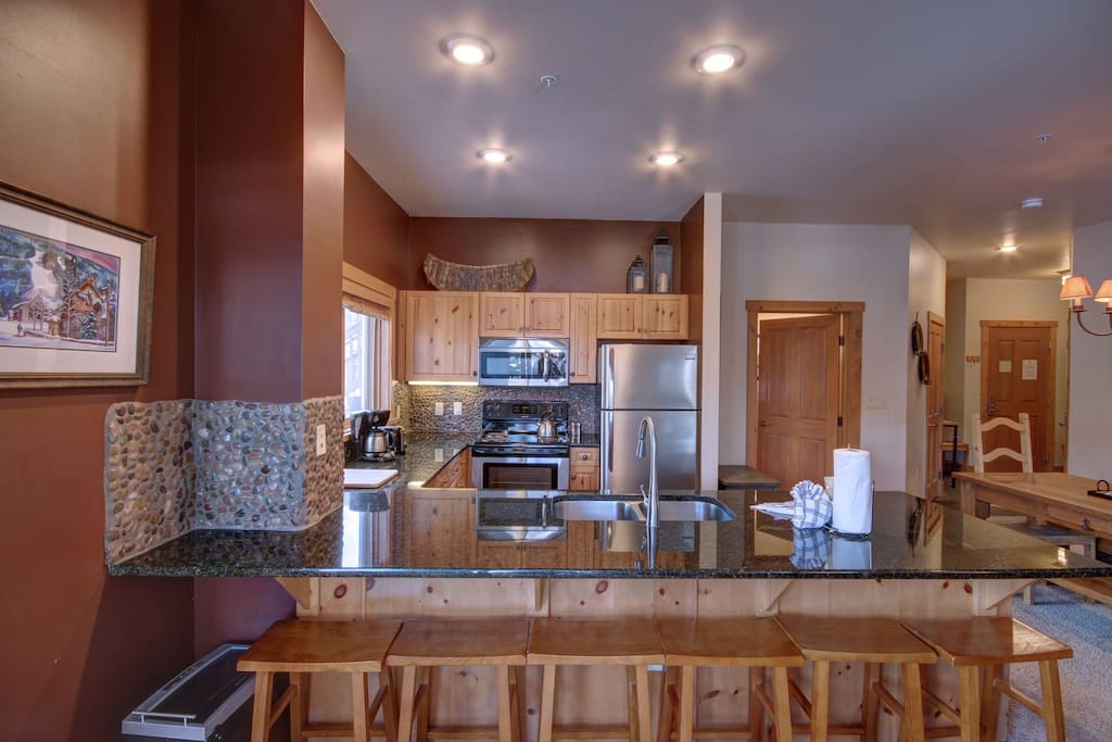 Open kitchen layout for the cook to enjoy all activities going on and to make all the favorite meals of your friends and family.