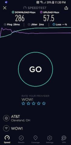 Lightening speed internet!