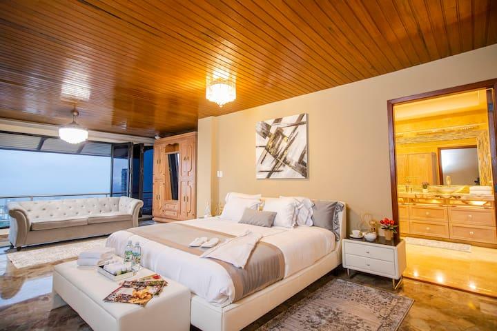 Dormitorio Principal con Sofa cama Full o Corral para Bebe