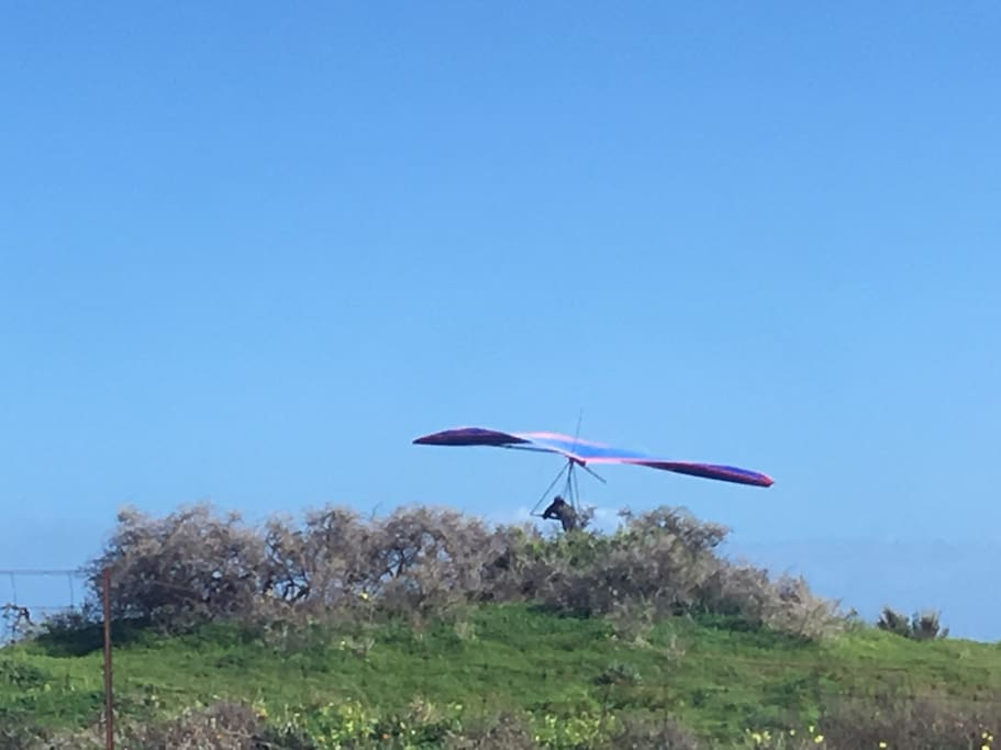 Hang Glider jumping off Cliff opp bnb