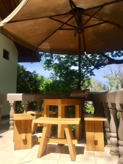 Ocean view outdoor seating