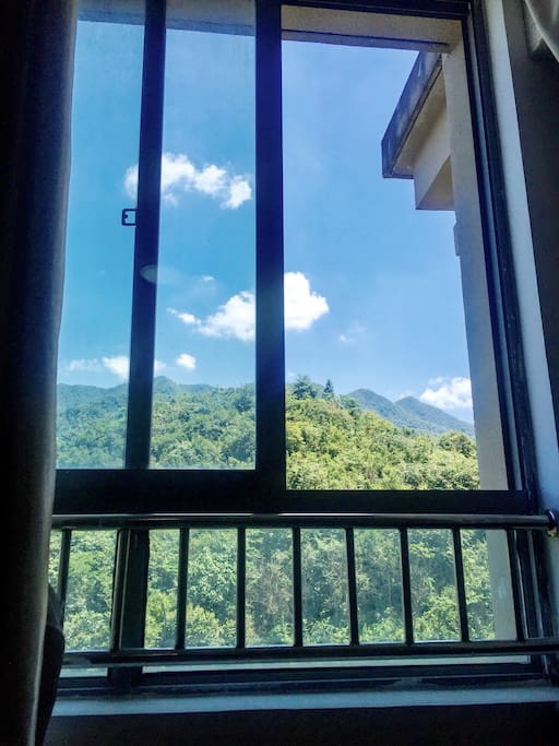 View of the mountain from guest room.