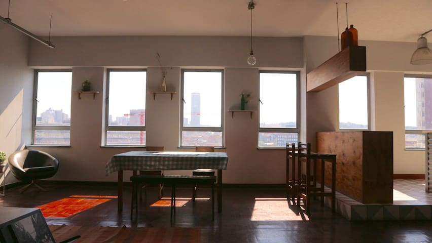 Sunny, spacious Maboneng penthouse