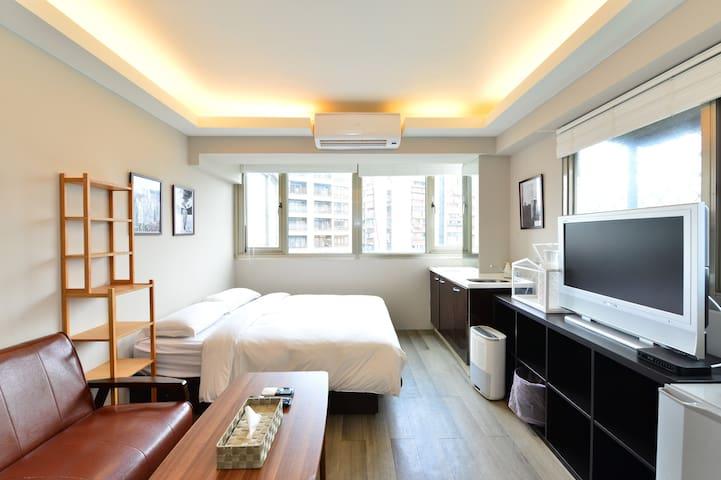 7B -  試營運【捷運藍線】- 後山埤站旁,獨立衛浴在房內,有電梯 - Xinyi District - Serviced apartment
