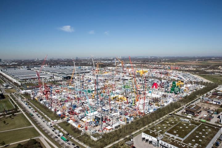 Gallery: Munich Fair (Bauma aerial view) / Messe München (Bauma Luftbild) (c) und Freigabe durch Messe München GmbH