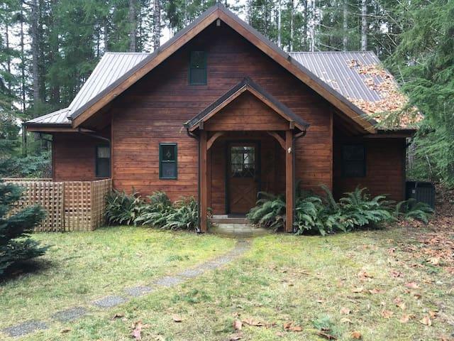 Hoodsport cabin in the woods