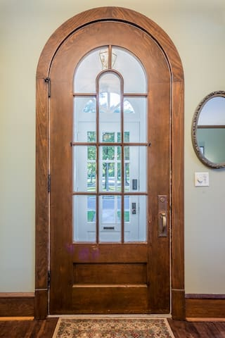 Restored door from early 1900s when the tavern became the Kohler Women's Club
