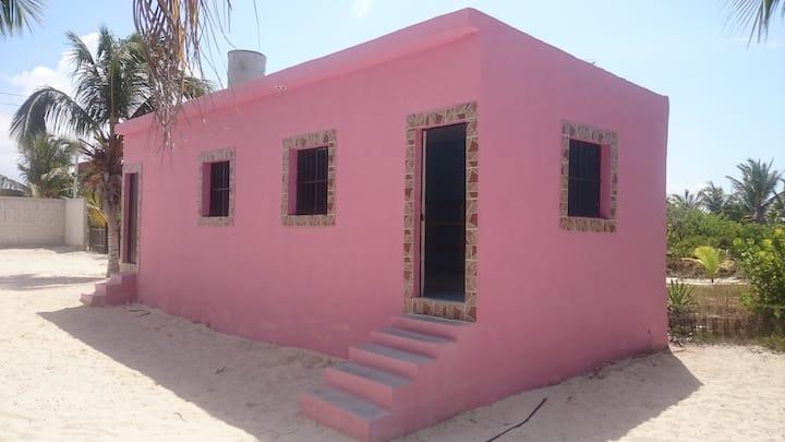 Casita Rosa en la Playa/Wifi