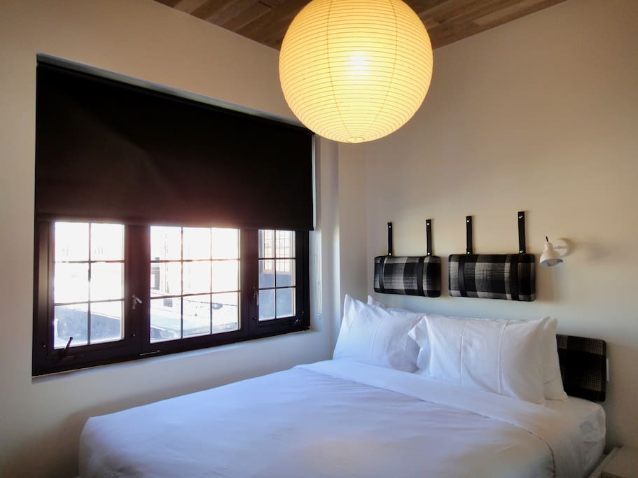 Leather Trimmed Cushions, Frette Linen, Down Pillows and Cozy Down Comforter