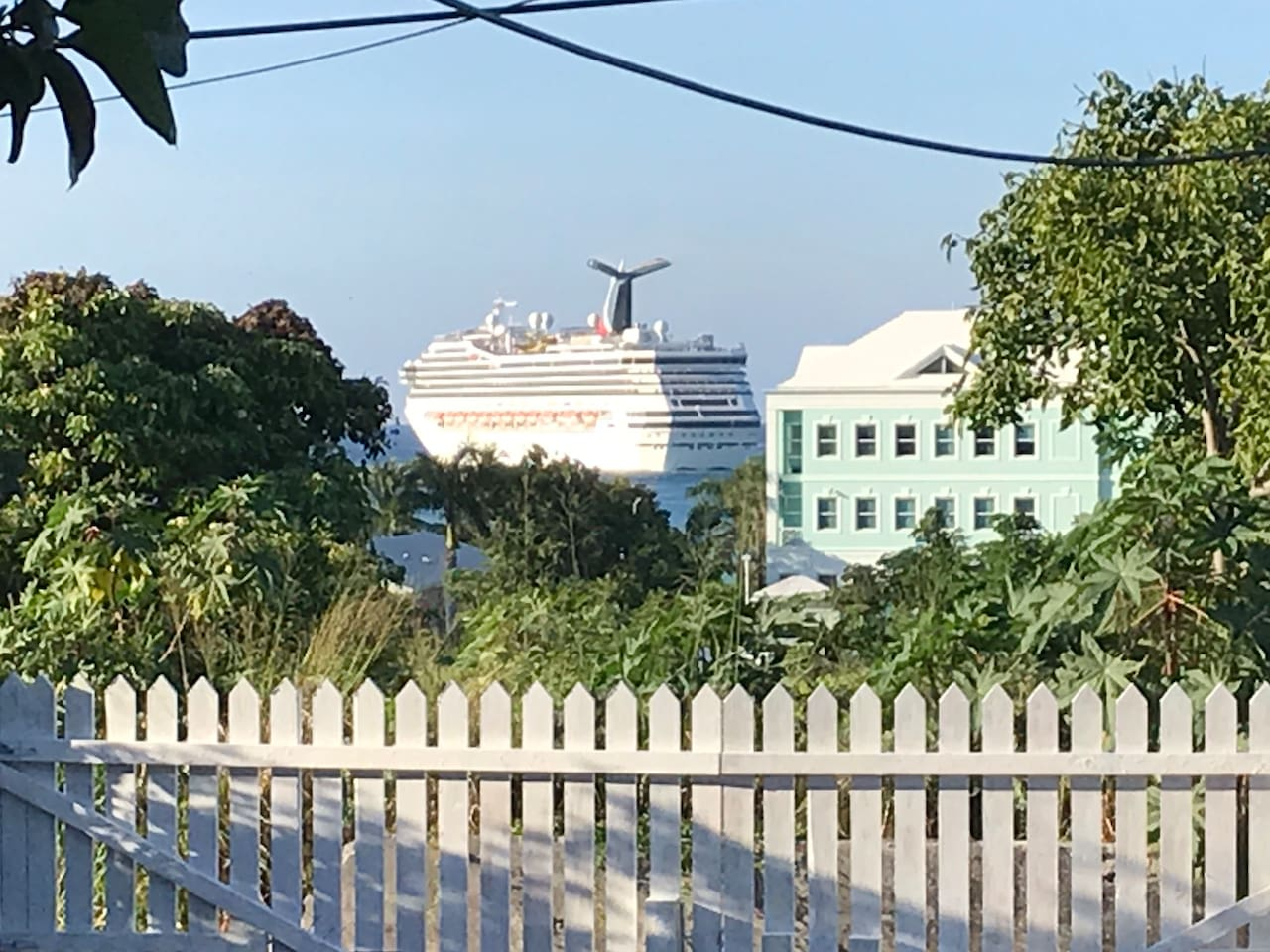 Watch the cruise ship sail by from your private yard.