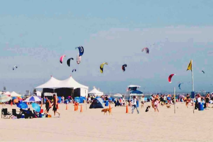 Kite Surfing just a short walk away